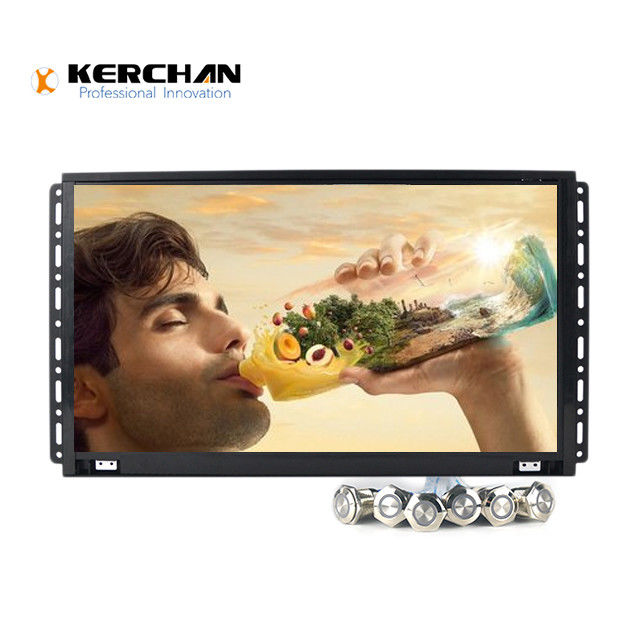 15.6 Inch  Full HD LCD Screen Open Frame 1080P Video Display with push buttons